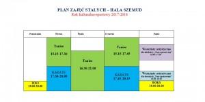 plan zajęć - Hala Szemud
